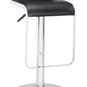 black_chrome_stool