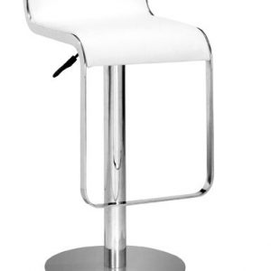 white_chrome_stool